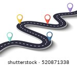 winding road on a white... | Shutterstock . vector #520871338