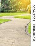 walkway pathway s curve in... | Shutterstock . vector #520879300
