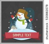 funny snowman. vector... | Shutterstock .eps vector #520882078