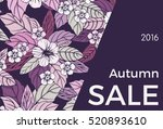 autumn floral design with... | Shutterstock .eps vector #520893610