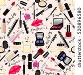 makeup  perfume  cosmetics... | Shutterstock .eps vector #520896580