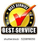 illustration of best service... | Shutterstock .eps vector #520898050