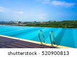 infinity swimming pool with... | Shutterstock . vector #520900813