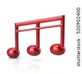 3d illustration of red music... | Shutterstock . vector #520902400