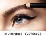 makeup eyebrow pencil. close up ...   Shutterstock . vector #520906828