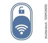 wifi icon vector flat design... | Shutterstock .eps vector #520910050