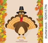 happy thanksgiving turkey | Shutterstock .eps vector #520911796