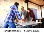 group of young business people...   Shutterstock . vector #520911838