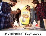 group of young business people... | Shutterstock . vector #520911988