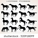 vector horse icons. different... | Shutterstock .eps vector #520918099