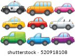 funny cartoon toy cars.... | Shutterstock .eps vector #520918108