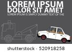 white stripes towing truck side ... | Shutterstock .eps vector #520918258