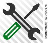 spanner and screwdriver vector... | Shutterstock .eps vector #520920178