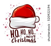 vector stock of santa claus hat ... | Shutterstock .eps vector #520922194
