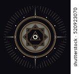 sacred symbols design  ... | Shutterstock .eps vector #520923070