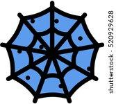 spider's web icon | Shutterstock .eps vector #520929628