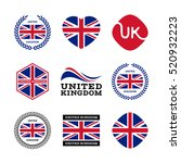 united kingdom  great britain ... | Shutterstock .eps vector #520932223