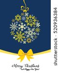 christmas greeting card with... | Shutterstock .eps vector #520936384