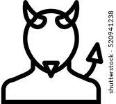 devil icon | Shutterstock .eps vector #520941238