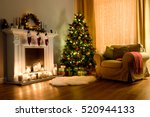 A Cozy Living Room Lighted Wit...