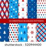 ten christmas different... | Shutterstock .eps vector #520944400