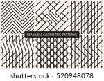 set of vector striped seamless... | Shutterstock .eps vector #520948078
