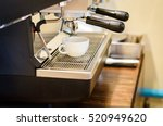 tamper with portafilter in use... | Shutterstock . vector #520949620