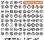 vector round doodle icons set.... | Shutterstock .eps vector #520949824
