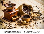 coffee cup and saucer | Shutterstock . vector #520950670
