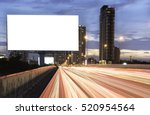 billboard mockup outdoors ...   Shutterstock . vector #520954564