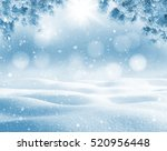 winter bright background.... | Shutterstock . vector #520956448