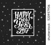 happy new year 2017 typography... | Shutterstock .eps vector #520957936