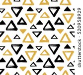 brush drawn triangles  pyramid... | Shutterstock .eps vector #520958929