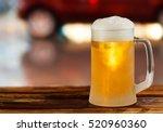 Cold Glass Mug Of Beer With...