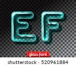 super realistic glass alphabet... | Shutterstock .eps vector #520961884