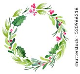 Watercolor Christmas Wreath...