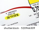expiration date or best before... | Shutterstock . vector #520966309