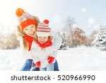 happy family mother and child... | Shutterstock . vector #520966990