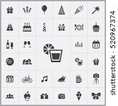 whiskey icon. birthday icons... | Shutterstock .eps vector #520967374