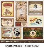 vintage labels collection   set ...