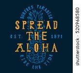 spread the aloha print....   Shutterstock .eps vector #520968580