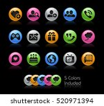 social communications icons  ... | Shutterstock .eps vector #520971394