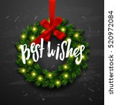christmas greeting card with... | Shutterstock .eps vector #520972084