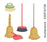 cartoon trendy cleaning service ... | Shutterstock .eps vector #520976728