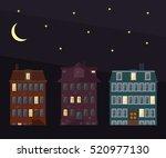 vector flat houses  set of... | Shutterstock .eps vector #520977130