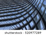 glazed aluminum structure with... | Shutterstock . vector #520977289