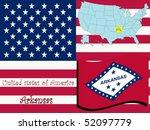 arkansas state illustration ... | Shutterstock .eps vector #52097779