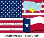 texas state illustration ... | Shutterstock .eps vector #52097785