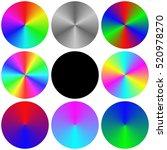 isolated gradient rainbow... | Shutterstock .eps vector #520978270