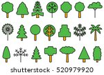 set of trees filled line icons | Shutterstock .eps vector #520979920